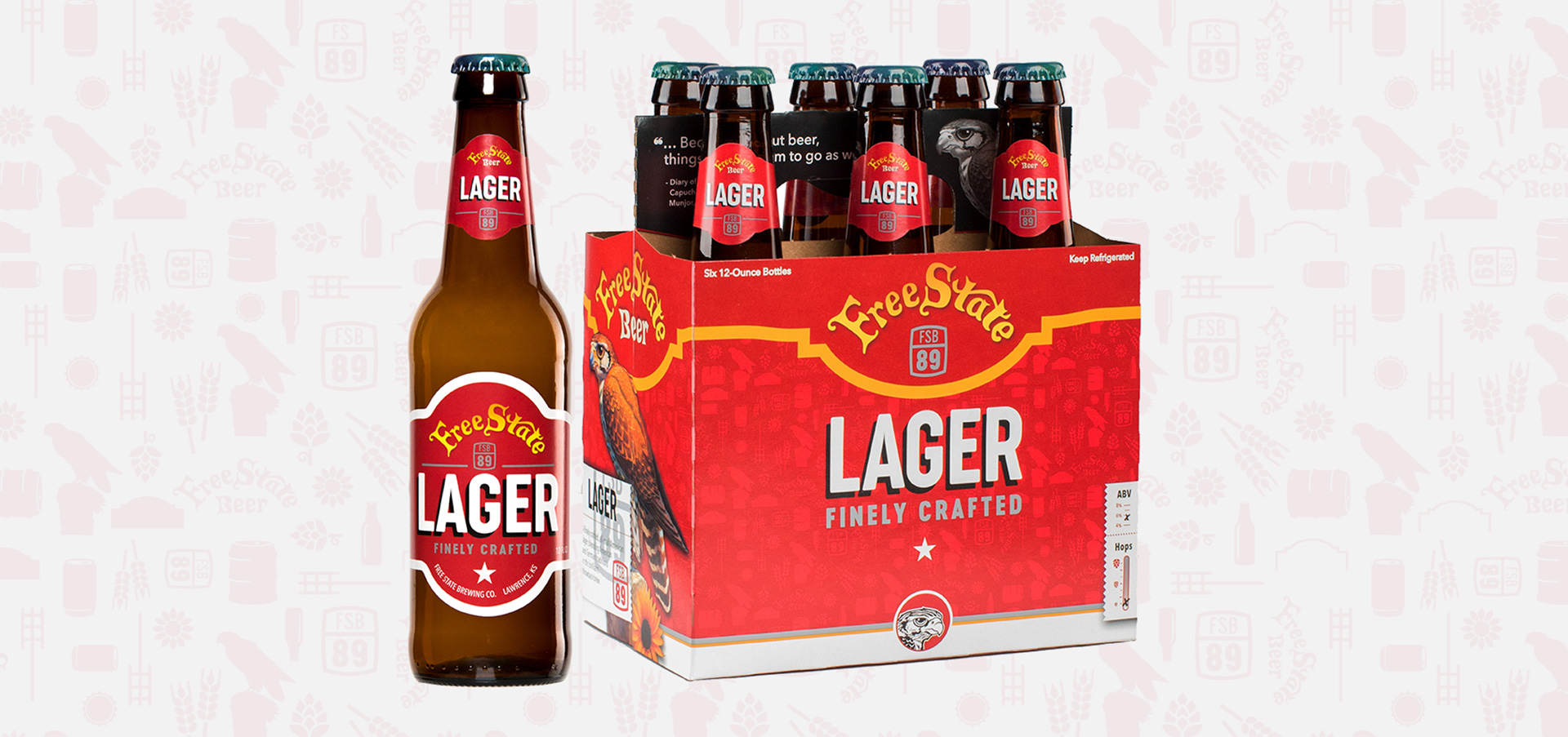 Free State Beer Lager Package Design