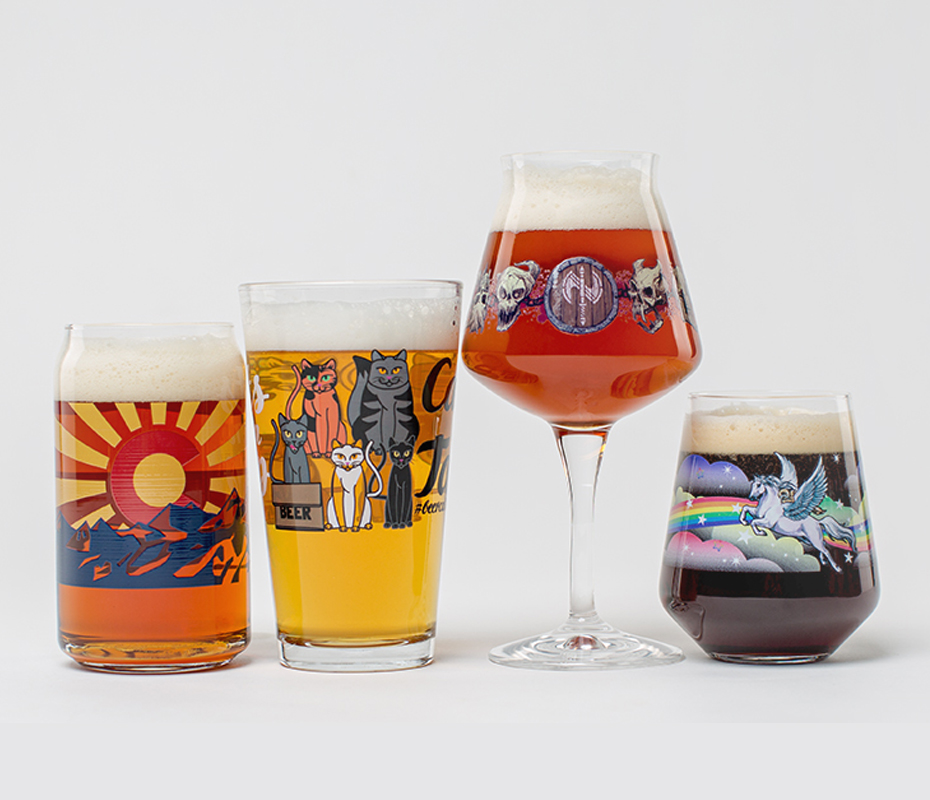 Full Color Glassware